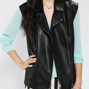Urban Outfitters Silence + Noise Leather Vest L